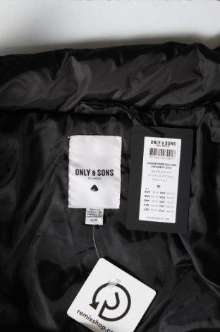 Мъжко яке Only & Sons, Размер M, Цвят Черен, Полиестер, Цена 42,78лв.