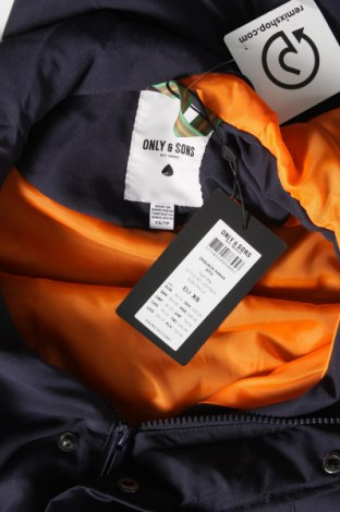 Мъжко яке Only & Sons, Размер XS, Цвят Син, Полиестер, Цена 34,71лв.