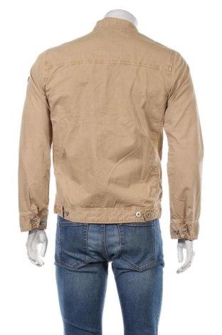 Мъжко яке Schott, Размер S, Цвят Бежов, Памук, Цена 75,57лв.