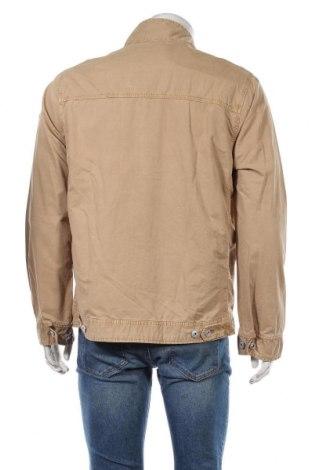 Мъжко яке Schott, Размер L, Цвят Бежов, Памук, Цена 75,57лв.