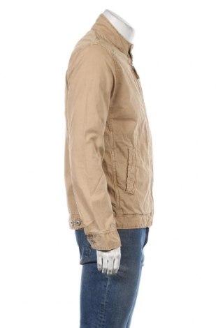 Мъжко яке Schott, Размер M, Цвят Бежов, Памук, Цена 75,57лв.