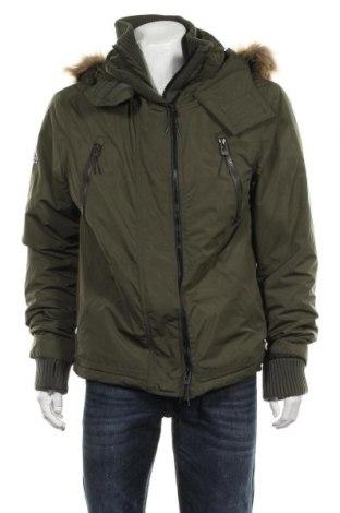 Мъжко яке Superdry, Размер XL, Цвят Зелен, Полиестер, Цена 169,07лв.