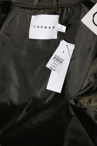 Мъжко яке Topman, Размер S, Цвят Зелен, Полиестер, Цена 41,65лв.