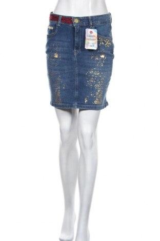 Sukně Desigual, Velikost S, Barva Modrá, 98% bavlna, 2% elastan, Cena  516,00Kč