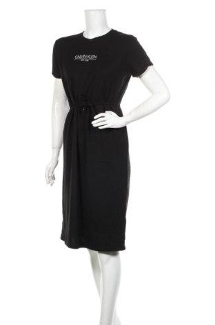 Φόρεμα Calvin Klein, Μέγεθος L, Χρώμα Μαύρο, 50% πολυεστέρας, 50% βισκόζη, Τιμή 69,20€