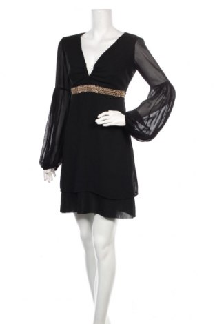 Šaty  Elisabetta Franchi, Velikost S, Barva Černá, 100% polyester, Cena  1626,00Kč