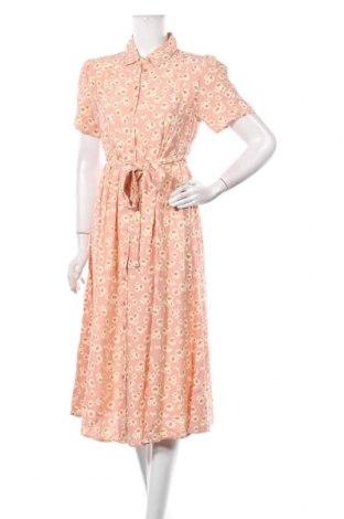 Φόρεμα Pieces, Μέγεθος M, Χρώμα Ρόζ , Βισκόζη, Τιμή 34,41€