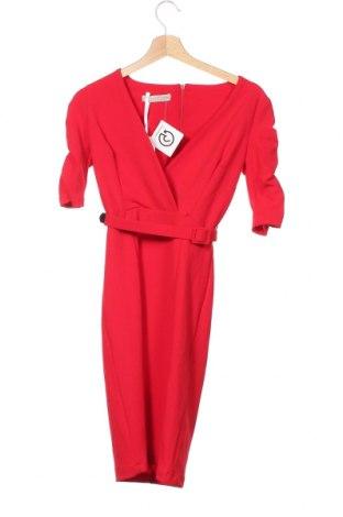 Šaty  Rinascimento, Velikost XS, Barva Červená, 96% polyester, 4% elastan, Cena  972,00Kč