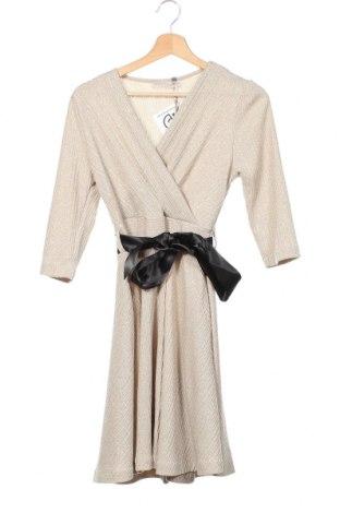 Šaty  Rinascimento, Velikost XS, Barva Béžová, 70% polyester, 26% kovové nitě, 4% elastan, Cena  712,00Kč