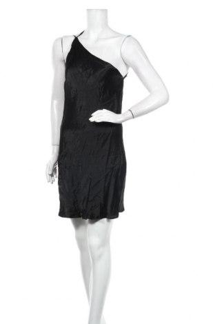 Рокля Zara, Размер M, Цвят Черен, Вискоза, Цена 31,05лв.