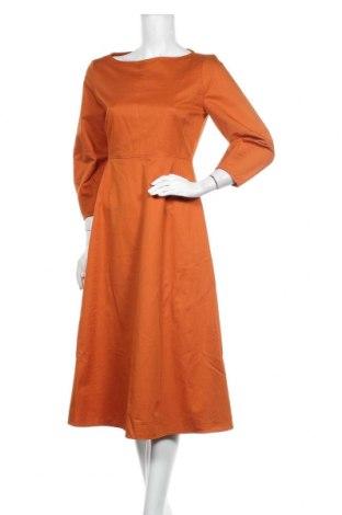 Φόρεμα Zara, Μέγεθος M, Χρώμα Πορτοκαλί, 78% βαμβάκι, 22% λινό, Τιμή 31,55€