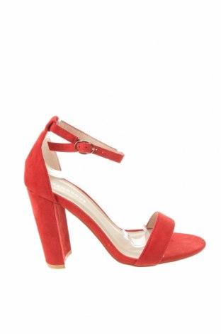 Σανδάλια Glamorous, Μέγεθος 38, Χρώμα Κόκκινο, Κλωστοϋφαντουργικά προϊόντα, Τιμή 31,96€