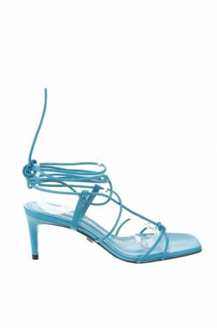 Σανδάλια Zara, Μέγεθος 36, Χρώμα Μπλέ, Δερματίνη, Τιμή 15,30€