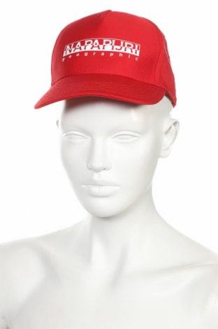 Čepice  Napapijri, Barva Červená, 60% bavlna, 40% polyester, Cena  750,00Kč