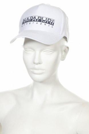 Шапка Napapijri, Цвят Бял, 60% памук, 40% полиестер, Цена 24,15лв.