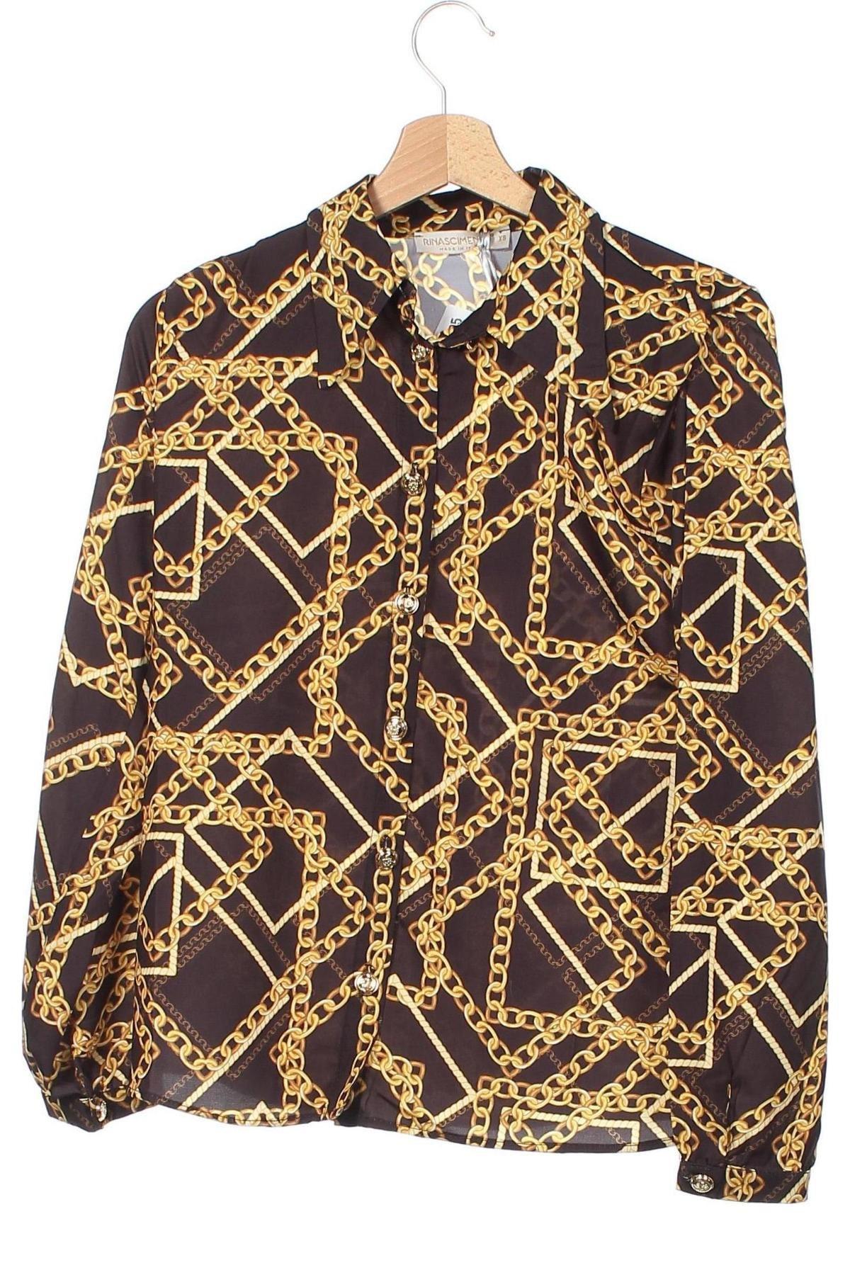 Dámská košile  Rinascimento, Velikost XS, Barva Vícebarevné, 94% polyester, 6% elastan, Cena  502,00Kč