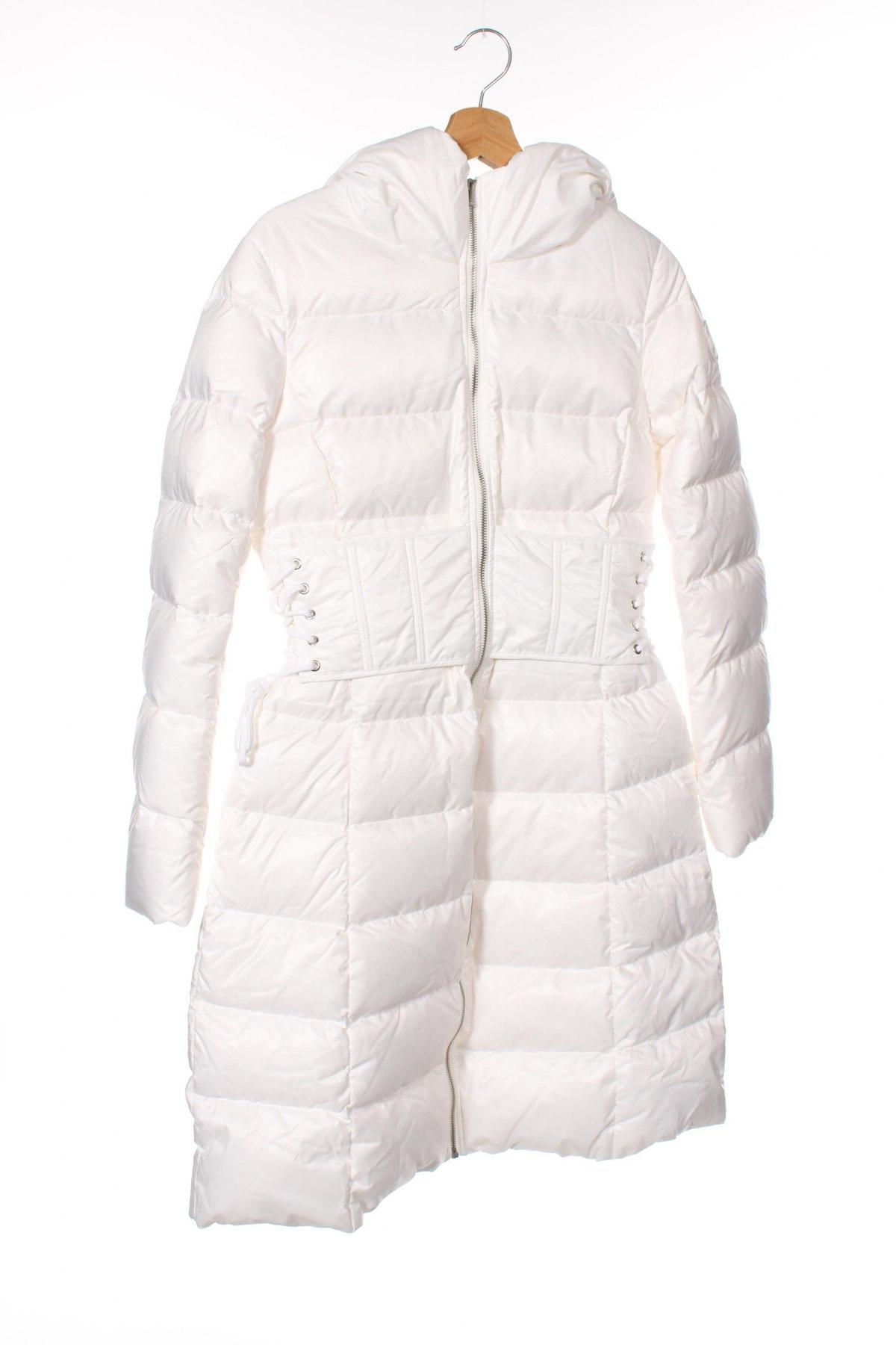 Γυναικείο μπουφάν Miss Sixty, Μέγεθος XS, Χρώμα Λευκό, Πολυεστέρας, φτερά και πούπουλα, Τιμή 154,25€