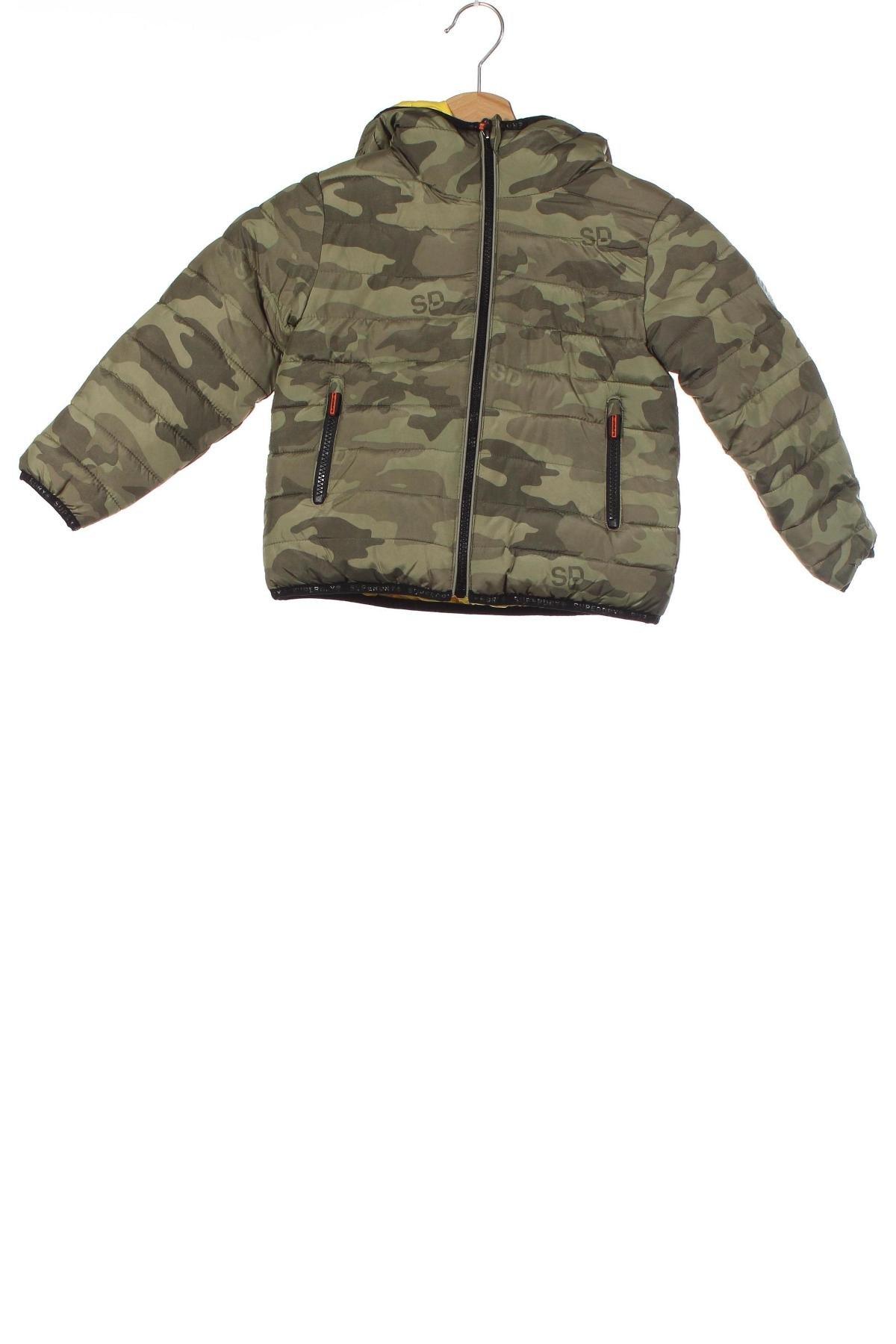 Dětská bunda  Superdry, Velikost 5-6y/ 116-122 cm, Barva Zelená, Polyester, Cena  908,00Kč