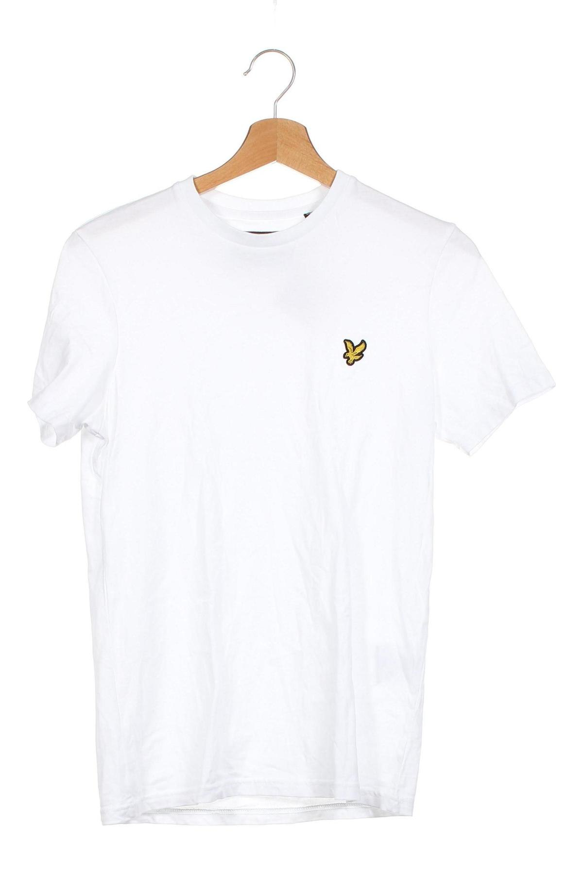 Мъжка тениска Lyle & Scott, Размер XS, Цвят Бял, Памук, Цена 26,88лв.