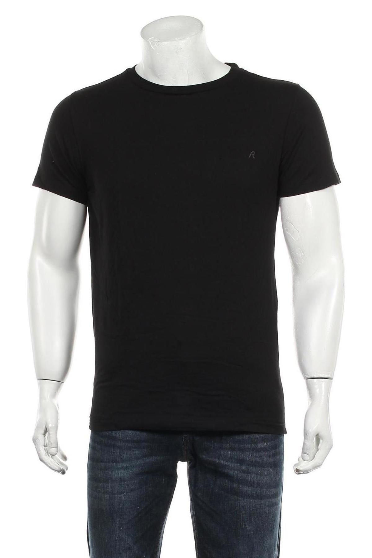 Мъжка тениска Replay, Размер S, Цвят Черен, Памук, Цена 27,30лв.