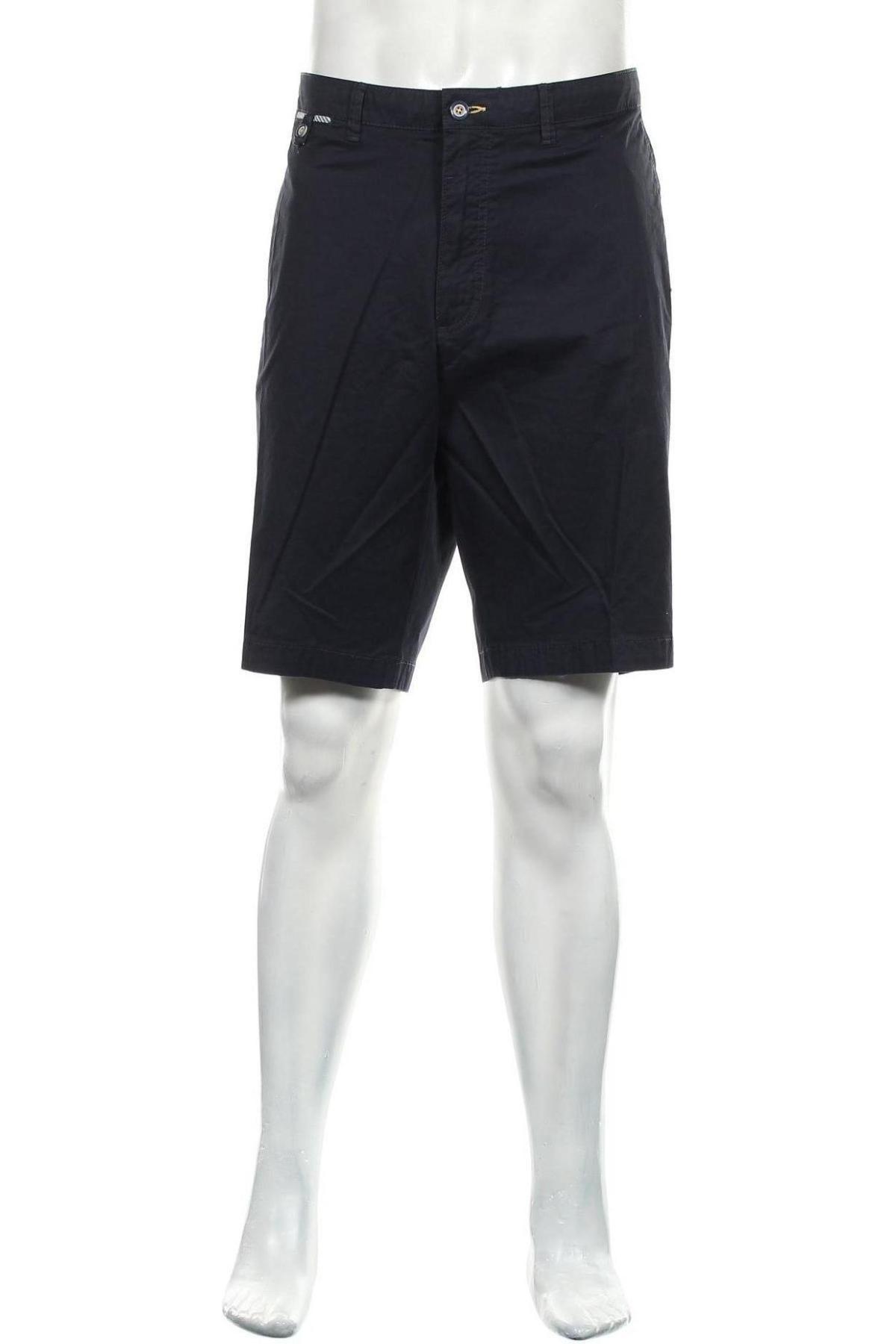 Мъжки къс панталон Bugatti, Размер XXL, Цвят Син, 97% памук, 3% еластан, Цена 37,38лв.