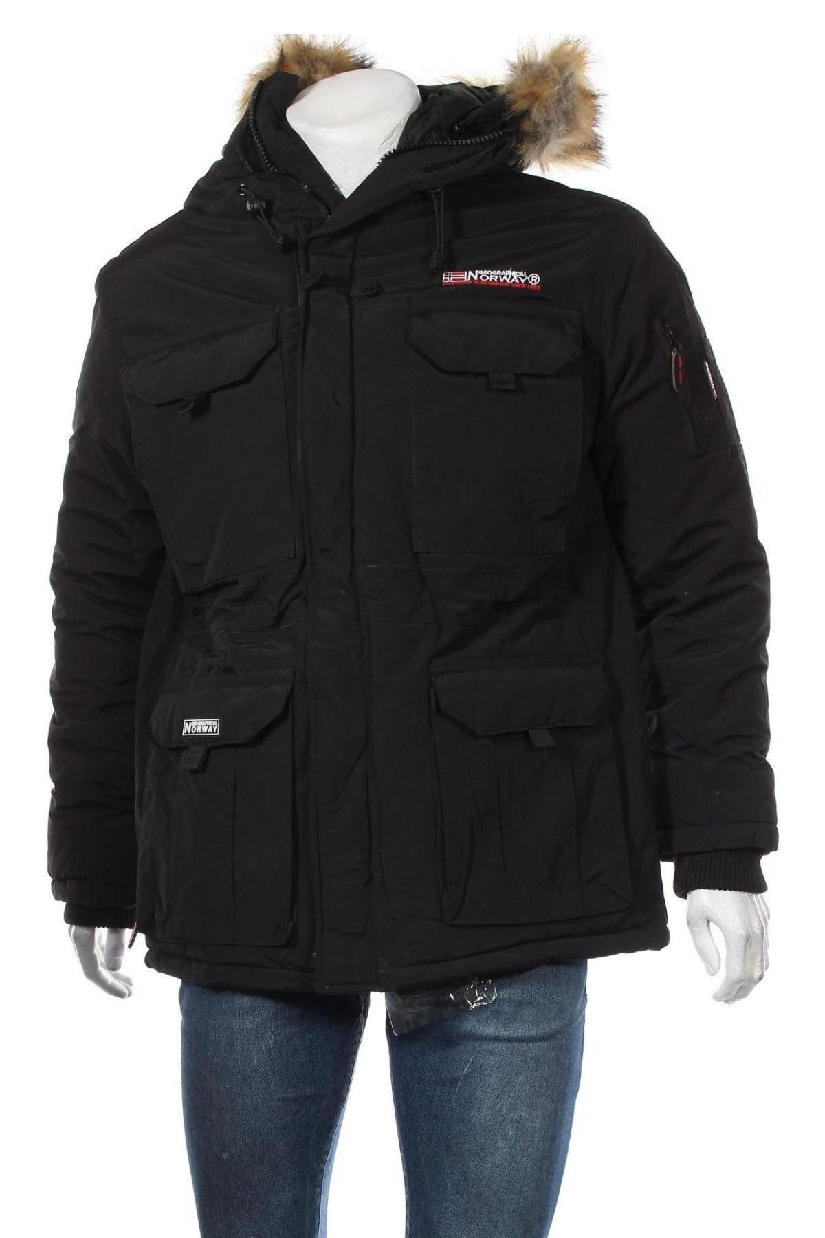Мъжко яке Geographical Norway, Размер L, Цвят Черен, Полиамид, Цена 115,15лв.