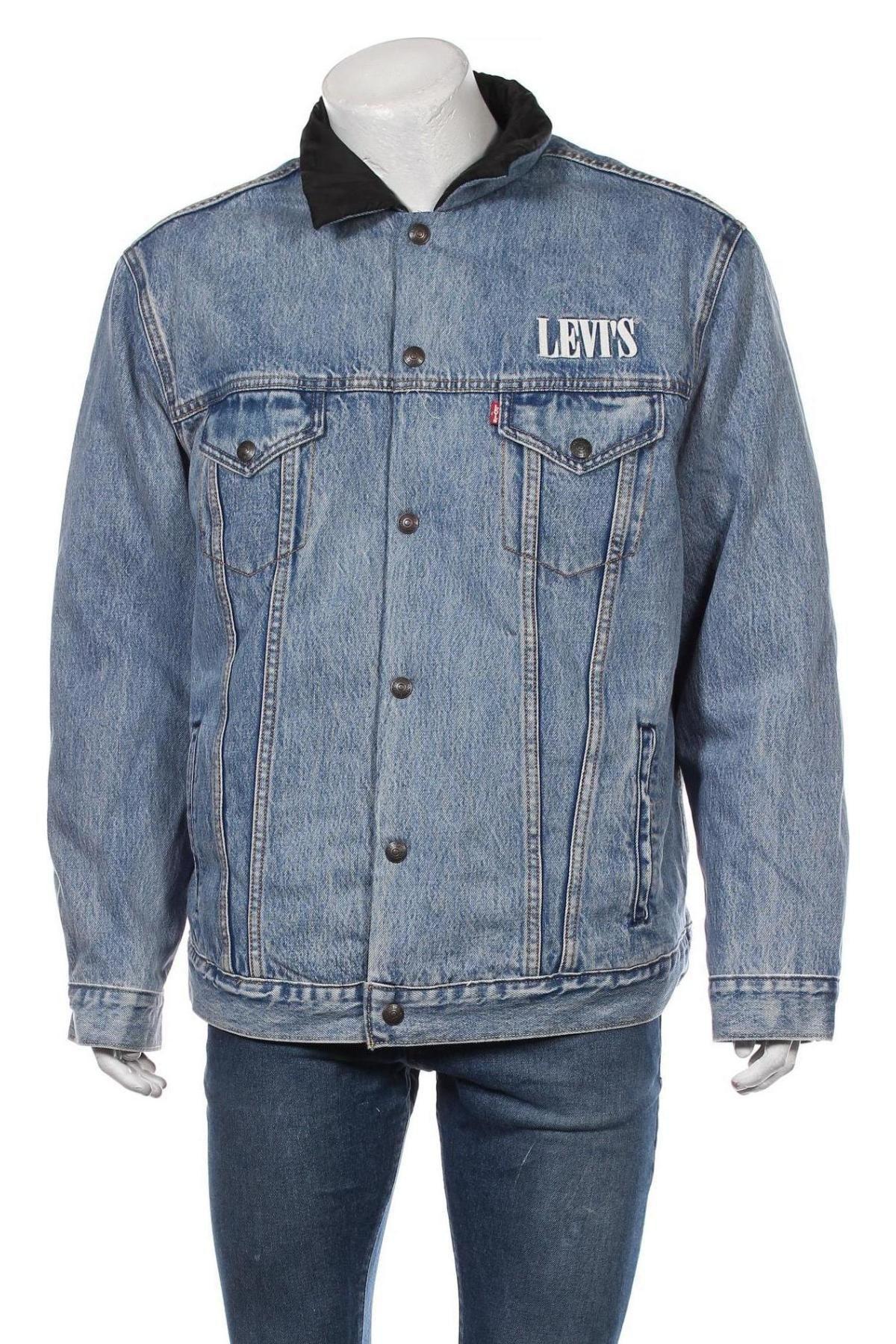 Ανδρικό μπουφάν Levi's, Μέγεθος XL, Χρώμα Μπλέ, Βαμβάκι, πολυαμίδη, Τιμή 111,73€