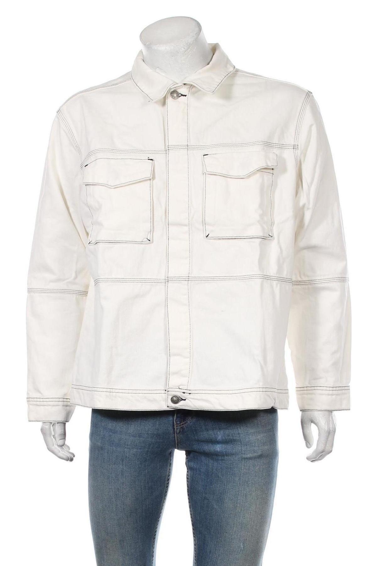 Мъжко яке Mennace, Размер XL, Цвят Бял, Памук, Цена 53,72лв.