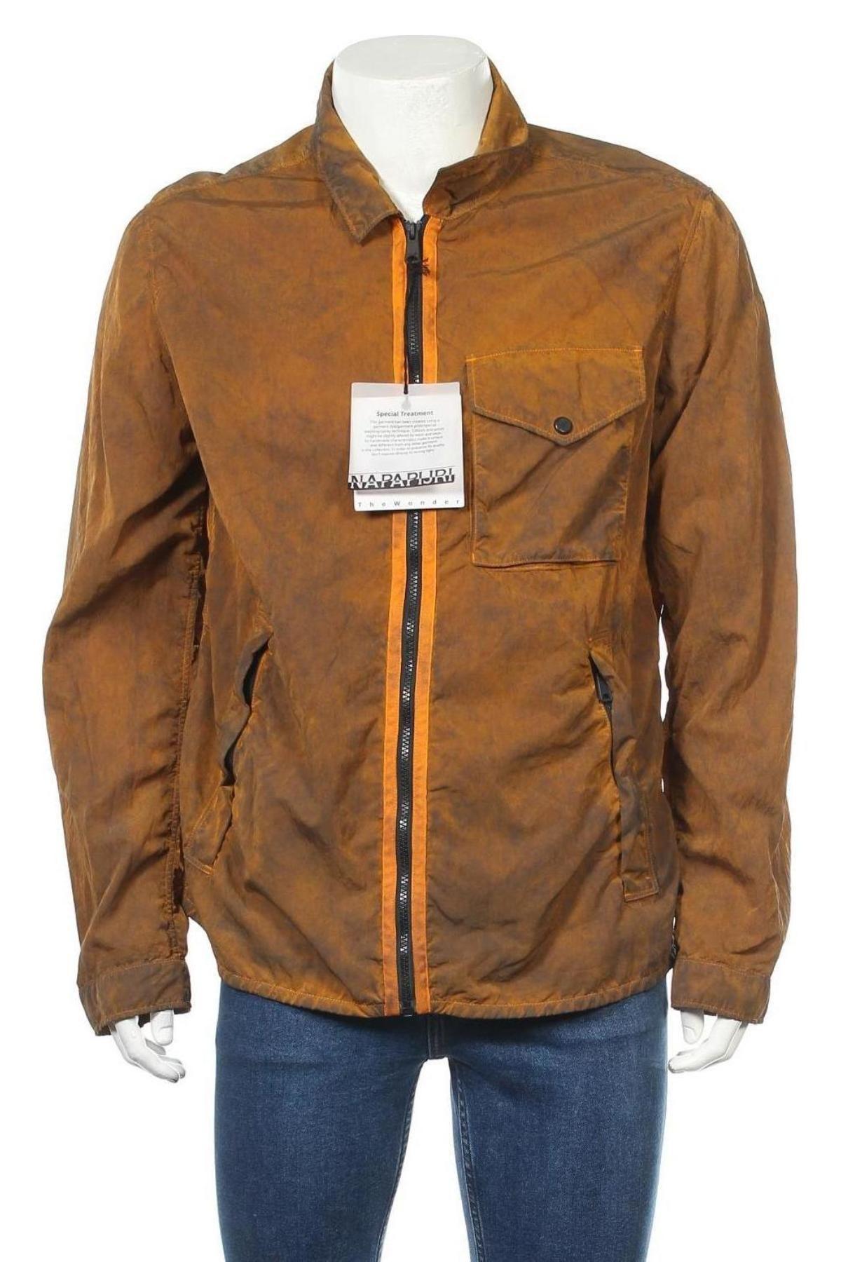 Мъжко яке Napapijri, Размер L, Цвят Оранжев, Полиамид, Цена 246,75лв.