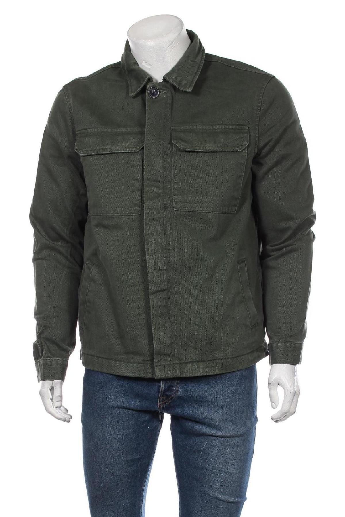 Мъжко яке New Look, Размер M, Цвят Зелен, Памук, Цена 67,15лв.