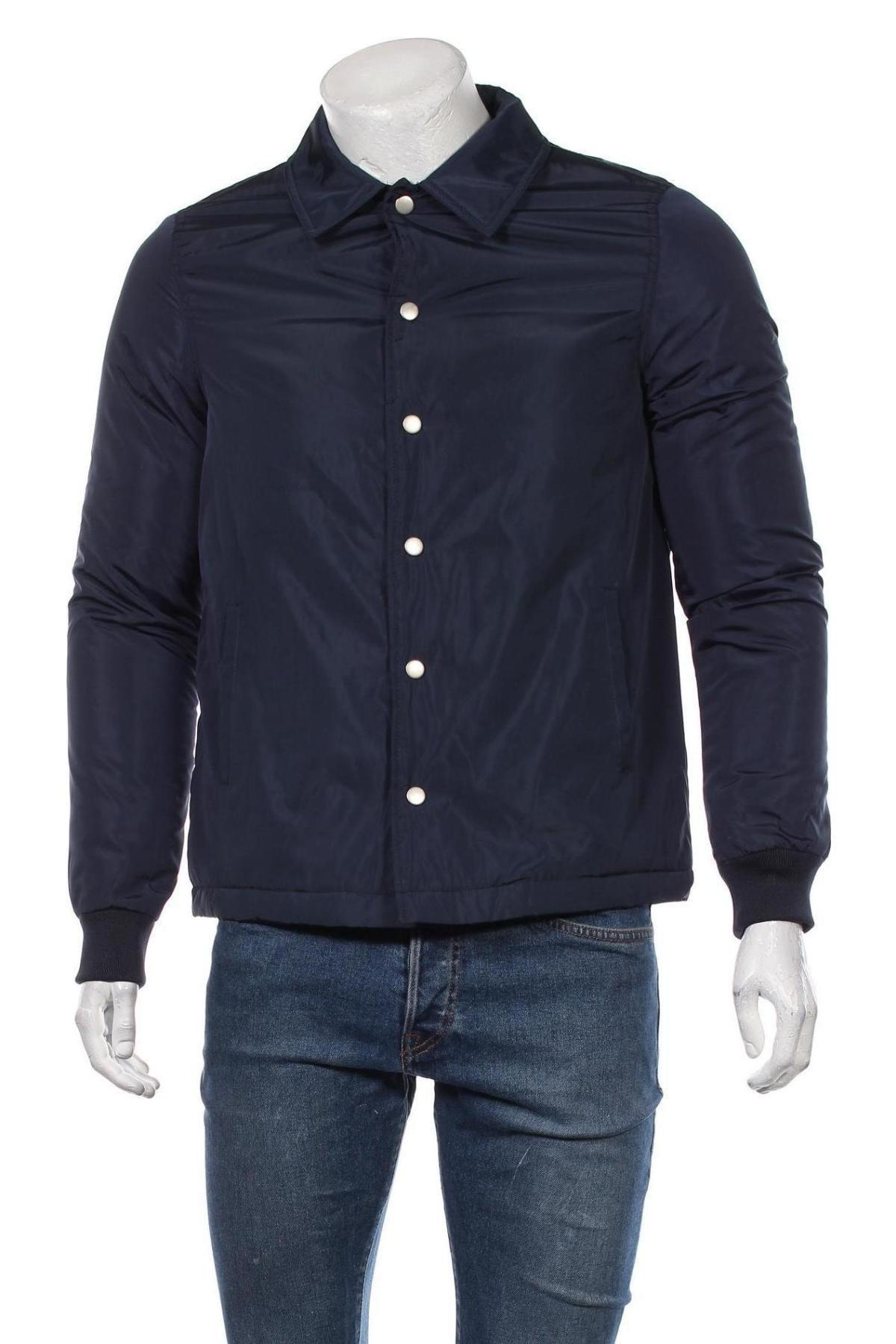 Мъжко яке New Look, Размер XS, Цвят Син, Полиестер, Цена 32,36лв.