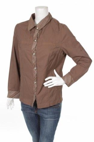 Дамска риза Anne Weyburn by La Redoute, Размер L, Цвят Кафяв, 57% памук, 43% полиамид, Цена 8,00лв.