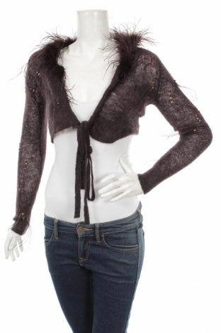 Γυναικείο πουλόβερ Milla, Μέγεθος S, Χρώμα Καφέ, Μοχαίρ, πολυαμίδη, φυσικά φτερά, Τιμή 20,50€