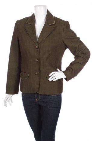 Дамско сако Walbusch, Размер M, Цвят Зелен, 64% памук, 34% полиестер, 2% еластан, Цена 7,20лв.