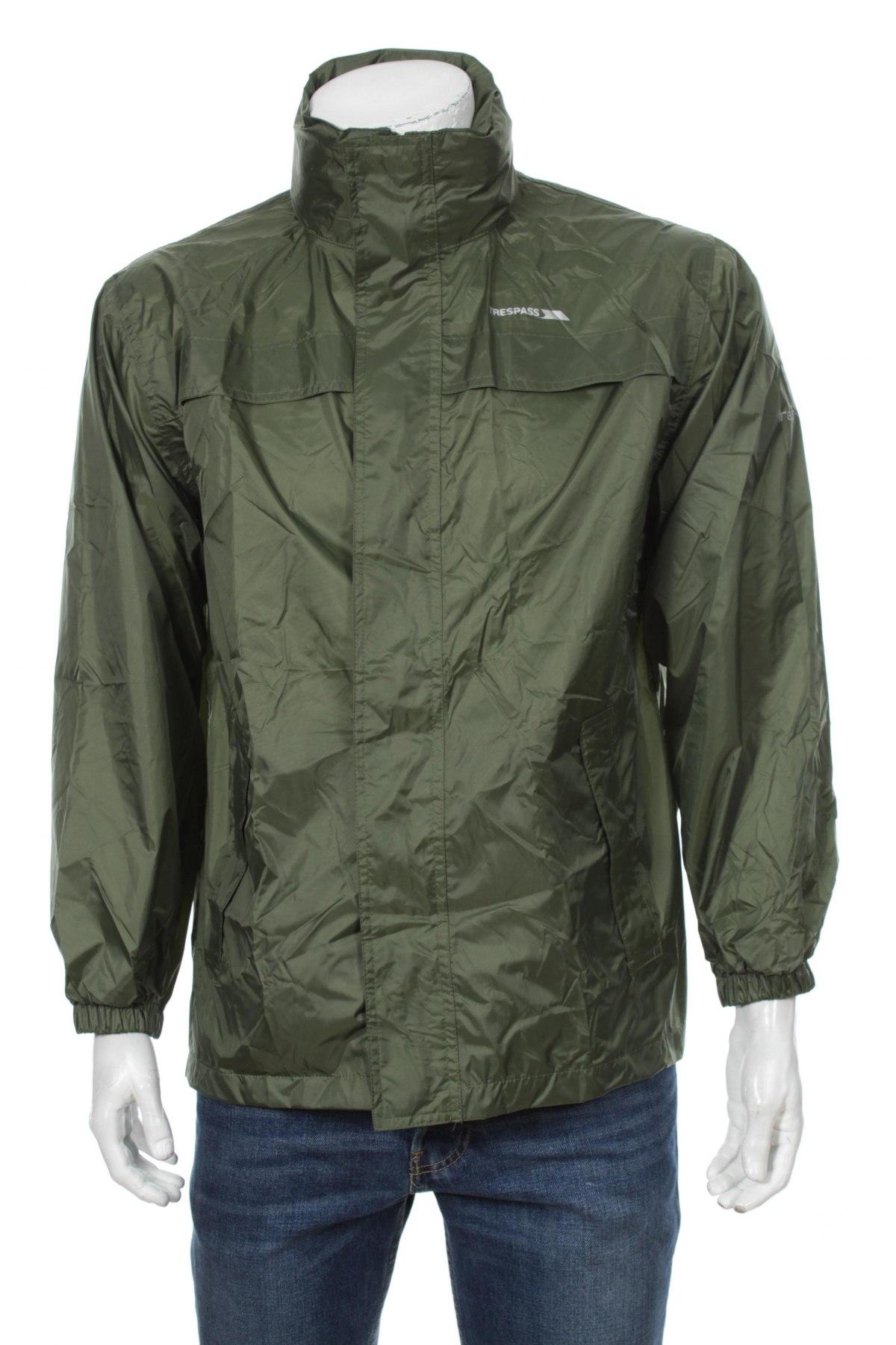 Мъжко спортно яке Trespass, Размер XS, Цвят Зелен, Полиамид, Цена 61,10лв.