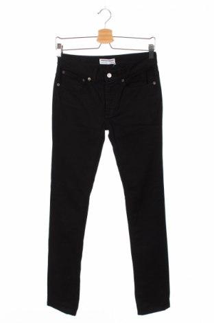 Дамски дънки American Apparel, Размер S, Цвят Черен, 98% памук, 2% еластан, Цена 28,00лв.