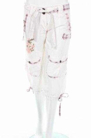 Дамски панталон Lucy, Размер M, Цвят Бял, 55% рамия, 45% други нишки, Цена 5,83лв.