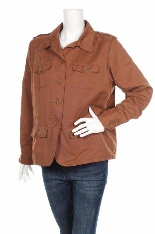 Дамско яке Gina Laura, Размер L, Цвят Кафяв, 62% полиестер, 20% памук, 18% полиамид, Цена 9,88лв.