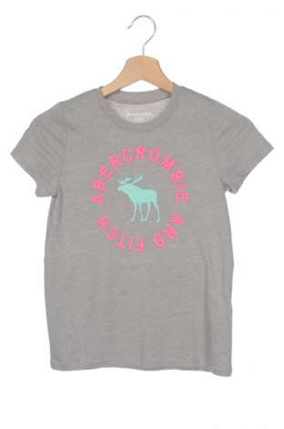 Детска тениска Abercrombie Kids, Размер 7-8y/ 128-134 см, Цвят Сив, 60% памук, 40% полиестер, Цена 30,68лв.
