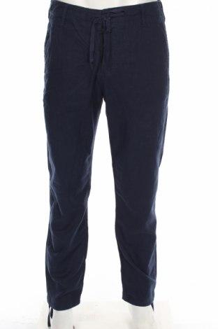 Мъжки панталон H&M L.o.g.g, Размер M, Цвят Син, 55% лен, 45% памук, Цена 17,25лв.