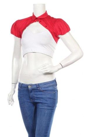 Болеро Elisabetta Franchi, Размер M, Цвят Червен, 76% памук, 20% полиамид, 4% еластан, Цена 17,20лв.