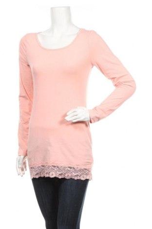 Дамска блуза Ajc, Размер S, Цвят Розов, 95% памук, 5% еластан, Цена 3,94лв.