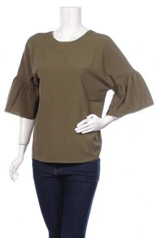 Дамска блуза Aniston, Размер M, Цвят Зелен, Полиестер, Цена 5,70лв.