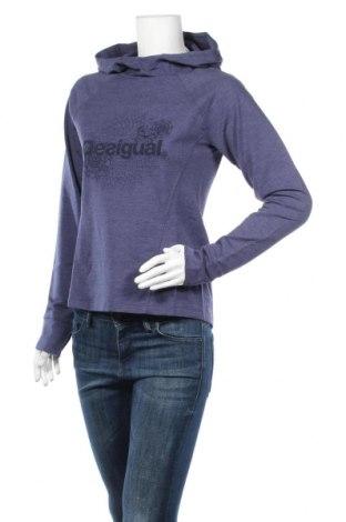Bluzka damska Desigual, Rozmiar M, Kolor Niebieski, 47% bawełna, 47% poliester, 6% elastyna, Cena 166,88zł