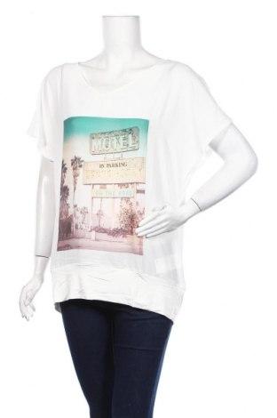 Дамска блуза Jacqueline Riu, Размер L, Цвят Бял, Полиестер, вискоза, еластан, Цена 18,62лв.