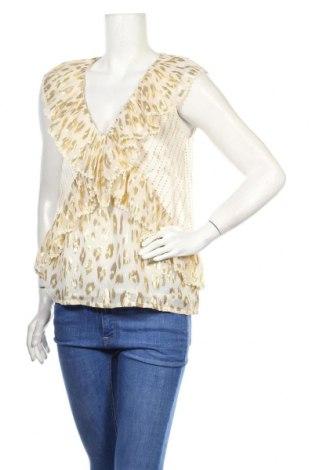 Γυναικεία μπλούζα Manoush, Μέγεθος M, Χρώμα Λευκό, 72% μετάξι, 28% μεταλλικά νήματα, Τιμή 33,74€