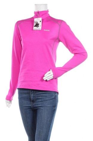Дамска спортна блуза Nanok, Размер S, Цвят Розов, 90% полиестер, 10% еластан, Цена 12,29лв.