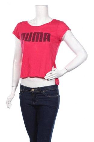 Дамска тениска PUMA, Размер S, Цвят Розов, 53% полиестер, 47% вискоза, Цена 44,25лв.