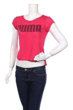 Дамска тениска PUMA, Размер XS, Цвят Розов, 53% полиестер, 47% вискоза, Цена 12,98лв.
