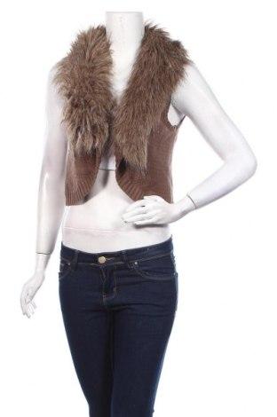 Дамска жилетка Aniston, Размер M, Цвят Кафяв, 50% памук, 50% полиакрил, Цена 6,83лв.
